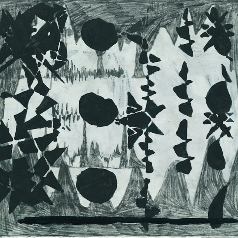 Image: Terry Winters, Untitled, 2009. Graphite, gouache, and ink on paper 22 ¼ × 30 inches. Courtesy of the artist and Matthew Marks Gallery, New York