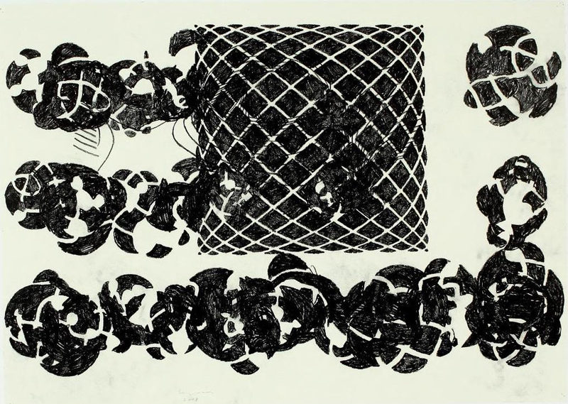 Terry Winters, 7-Fold Sequence, One, 2008. Graphite on paper, 29 1/2  41 1/2 inches. Courtesy of the artist and Matthew Marks Gallery. Image © Terry Winters, Courtesy Matthew Marks Gallery.